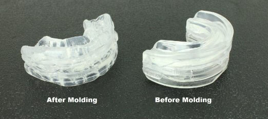 Before and after molding