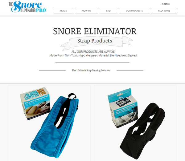 SnoreEliminatorChinstrap website